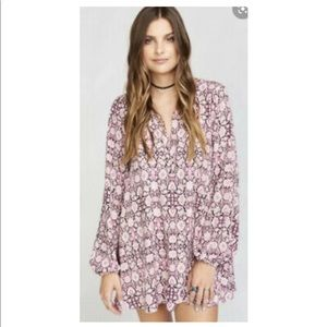 Show Me Your Mumu Jamie Tunic Cabernet Rose